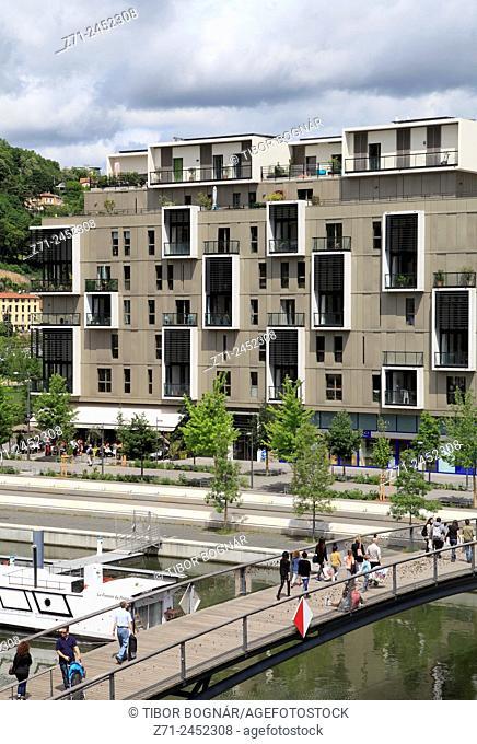 France, Rhône-Alpes, Lyon, Parc de la Confluence, new urban development