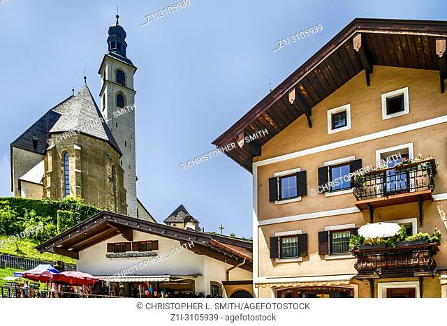 The church of Our Lady (Liebfrauenkirche) in Kitzbuhl, Austria