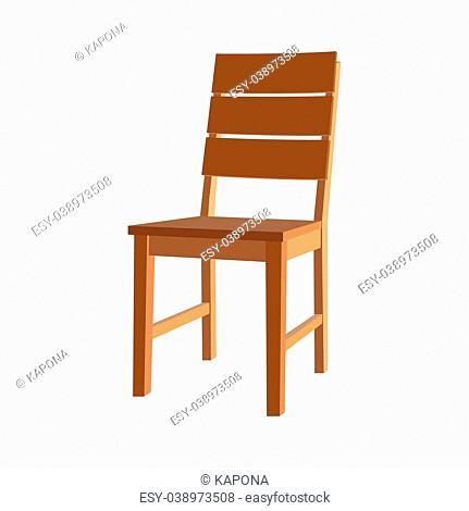 Icon chair with four legs. Photo illustration