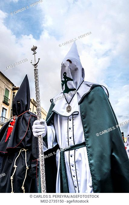 Religious ceremony in Avila during Holy Week in Spain