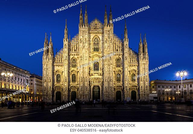 Milan's spacious city square, the Piazza del Duomo, is named for the huge church that overlooks it. Today, the piazza is a central meeting place