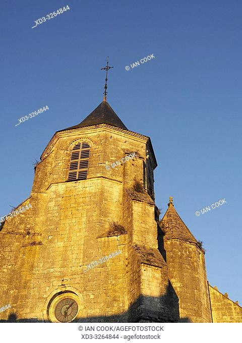 Saint Felicien Church, Issigeac, Dordogne Department, Nouvelle Aquitaine, France