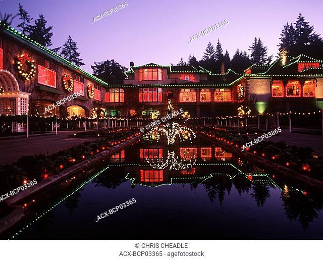 Butchart Gardens at christmas, Victoria, Vancouver Island, British Columbia, Canada