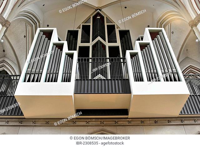 Main organ of St Petri Church, parish church, construction start 1310, Moenckebergstrasse and Bergstrasse streets, old town, Hamburg, Germany, Europe