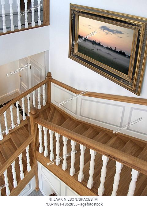 Stairwell in Upscale Home