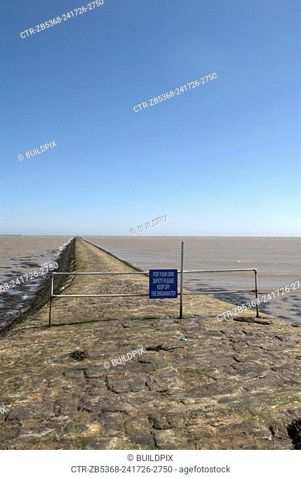 Sea defences, Harwich, Essex, UK