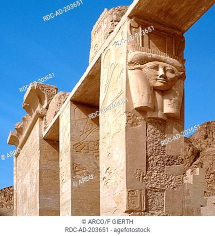Portrait of Hatschepsut, Deir el-Bahari, tomb group in necropolis, Egypt