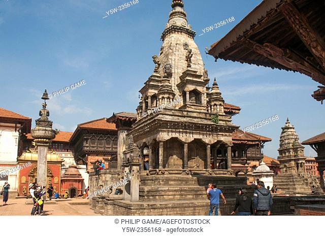 Durbar Square, the heart of the historic city-state of Bhaktapur, Kathmandu Valley, Nepal. Taken before the catastrophic April 2015 earthquake