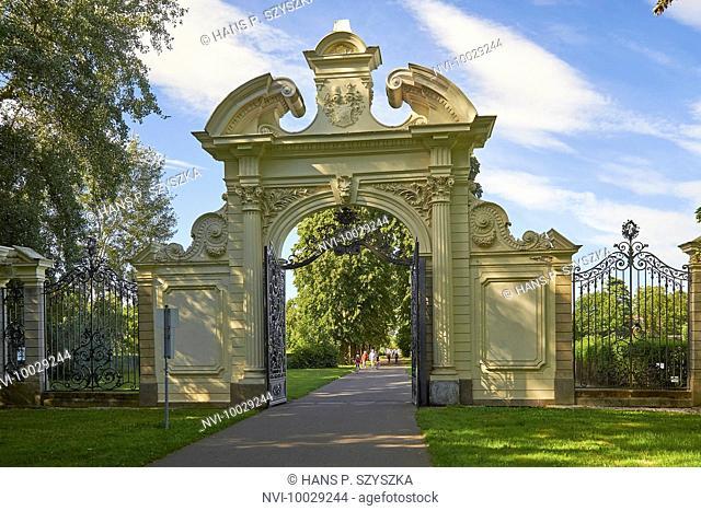 North Gate, Adlertor of the Kees'chen Park in Markkleeberg, Leipzig, Saxony, Germany