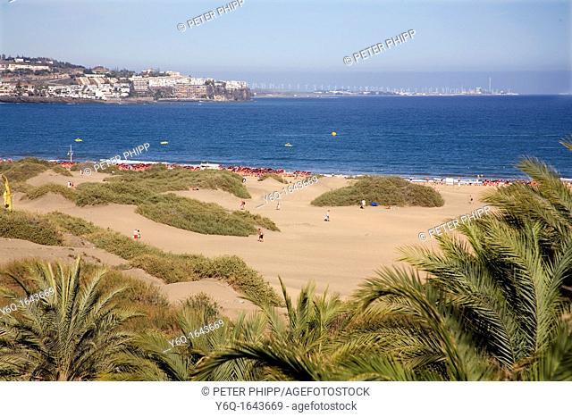 Beach near to Playa des Ingles/Maspalomas in Gran Canaria  Canary Islands
