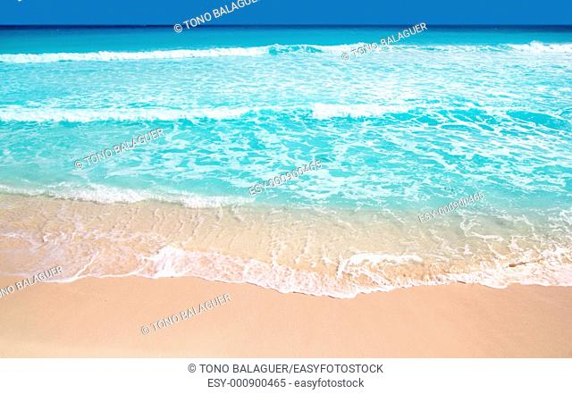 Caribbean turquoise beach perfect sea sunny day Mayan Riviera