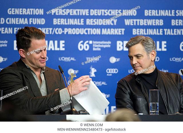 66th Berlin International Film Festival (Berlinale) - 'Hail, Caesar! - Press Conference Featuring: Channing Tatum, George Clooney Where: Berlin