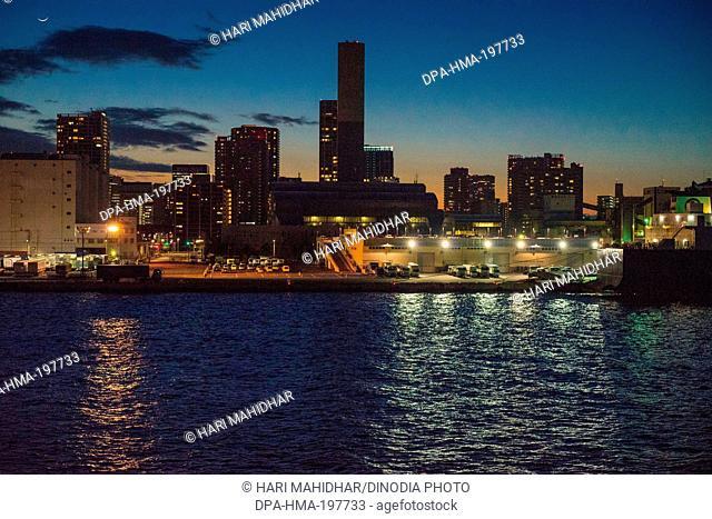 Cityscape, tokyo, harbour at japan
