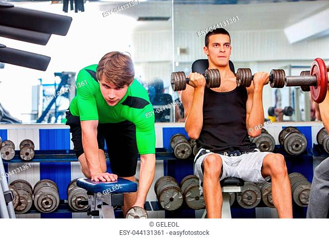Bodybuilder exercise simulator Stock Photos and Images | age