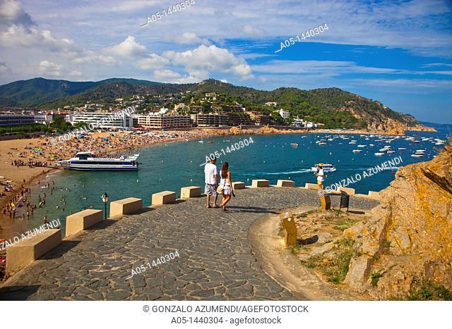 Tossa de Mar, La Selva, Costa Brava, Girona province, Catalonia, Spain