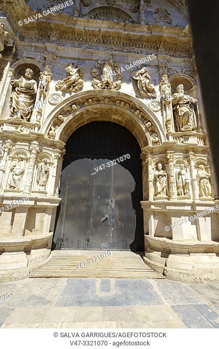 The Collegiate Church of Santa María la Mayor or The Collegiate Church of the Assumption of the Virgin of Calatayud (Zaragoza) in Mudejar style