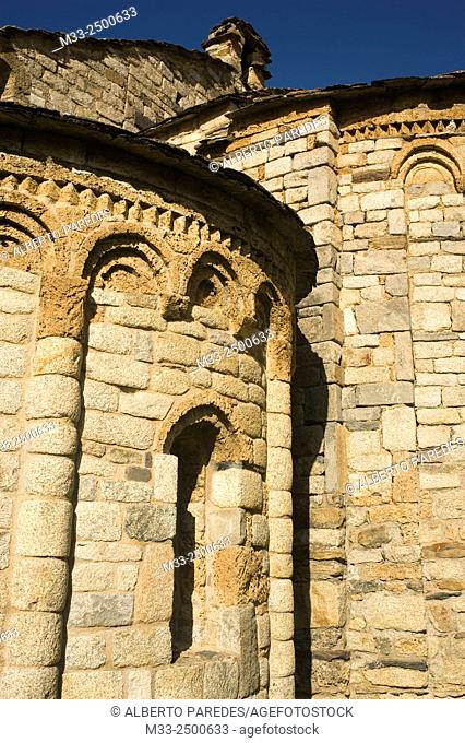 Sant Climent de Taull romanesque church. Taull, Vall de Boi, Lleida, Catalonia, Spain