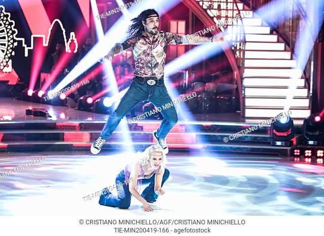Dani Osvaldo during the performance at the tv show Ballando con le stelle (Dancing with the stars) Rome, ITALY-20-04-2019