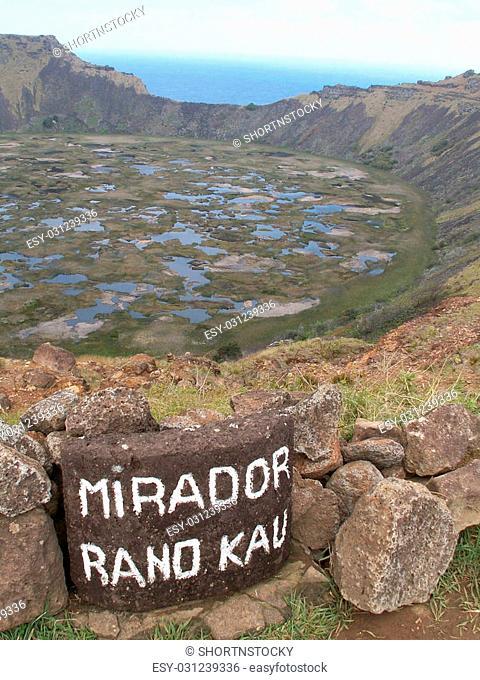 The Ranu Kao crater, Easter Island