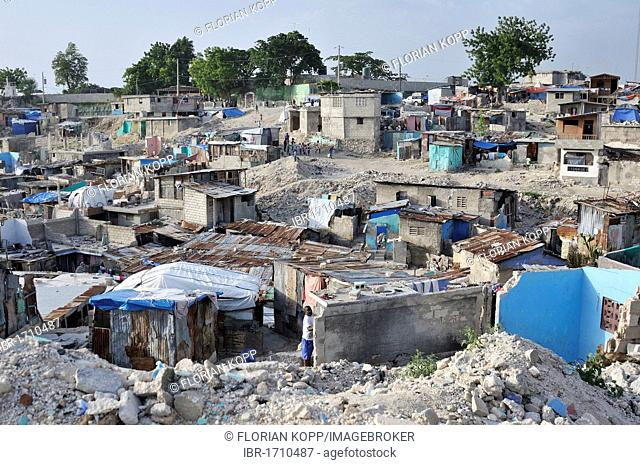 The slums of Fort National, the district was largely destroyed by the earthquake in January 2010, Port-au-Prince, Haiti, Caribbean, Central America