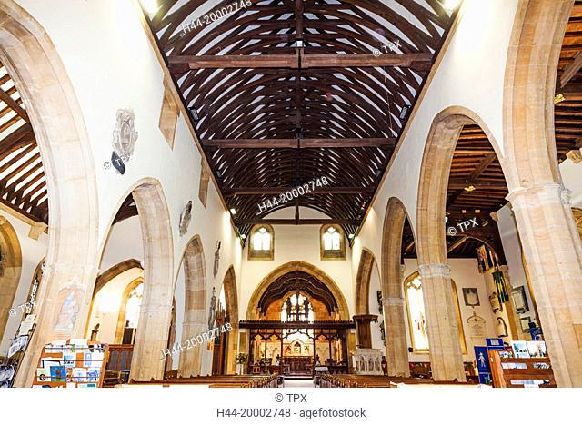 England, Worcestershire, Cotswolds, Evesham, Evesham Abbey, St Lawrence Church