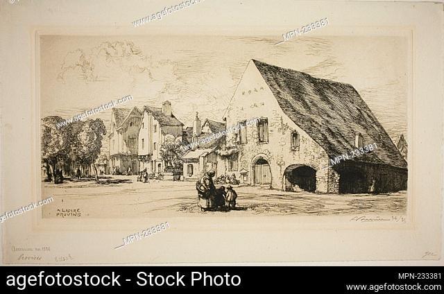 Provins - 1910 - Louis Auguste Lepère French, 1849-1918 - Artist: Louis Auguste Lepère, Origin: France, Date: 1910, Medium: Etching on cream laid paper