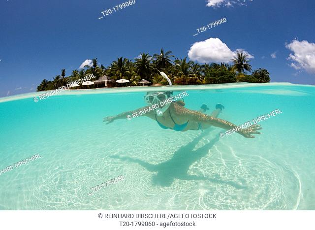 Snorkeling at Kurumba Island, North Male Atoll, Indian Ocean, Maldives