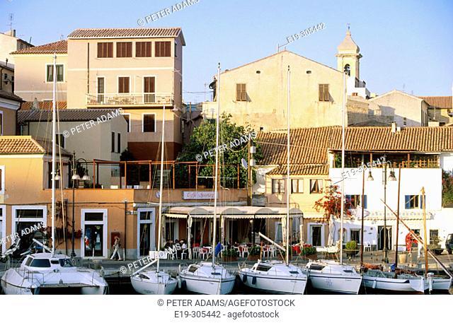 View of La Maddalena in Sardinia. Italy