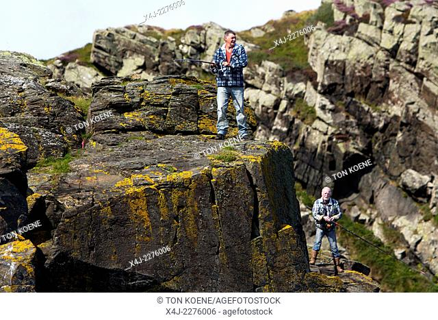 seafishing at Torr Head, Northern Ireland