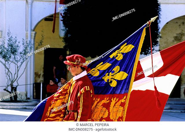 Malta, La Valette, fort Saint Elmo, historical reconstitution