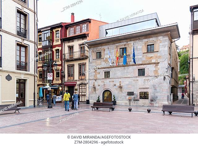 Prieto-Cutre Palace, now City Hall , Ribadesella village, Asturias, Spain. Historical Heritage Site