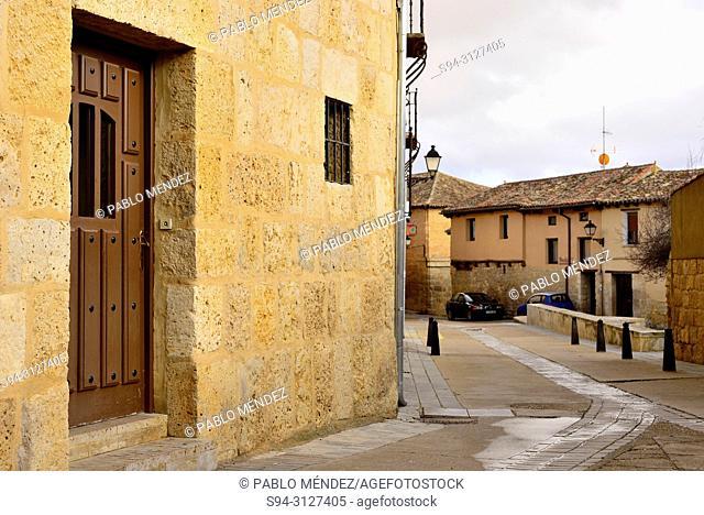 Pedestrian street of Castrojeriz, Burgos, Spain