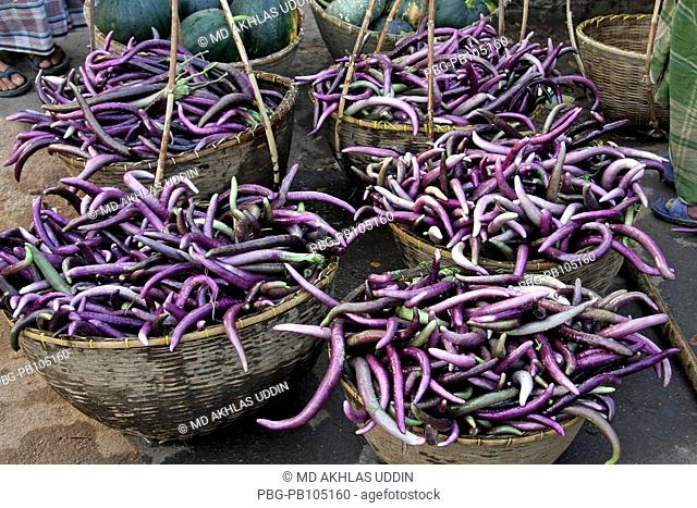 Wholesale vegetables market at Tuker Bazar Sylhet, Bangladesh February, 2010