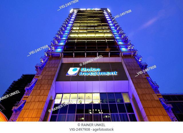 GERMANY : The headquarter of Union Investment in Frankfurt - Frankfurt, Hesse, Germany, 23/02/2011
