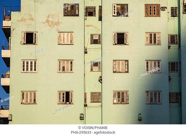 Facade of a building, La Havana, Cuba