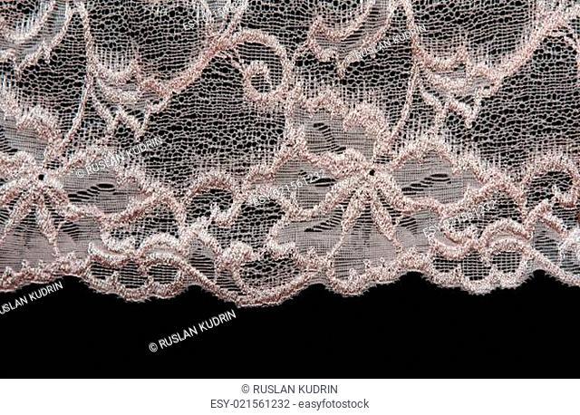 Rose pattern lace