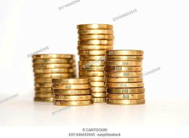 One Dollar Coin White Background Stock Photos And Images