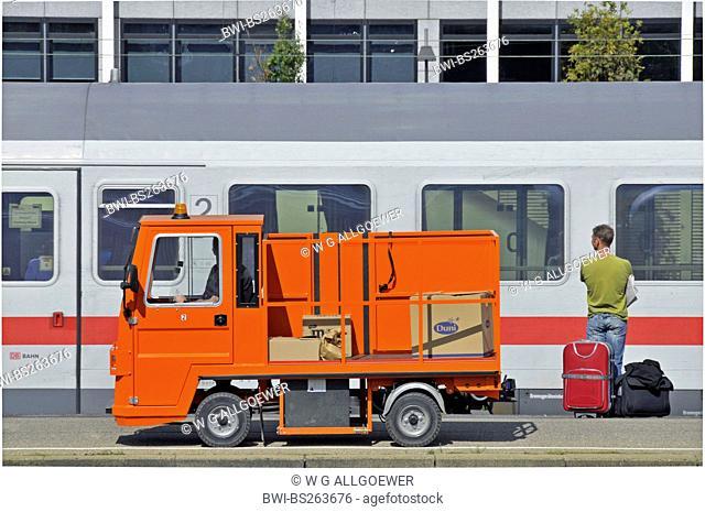 Stuttgart main station is cleaned, Germany, Baden-Wuerttemberg, Stuttgart
