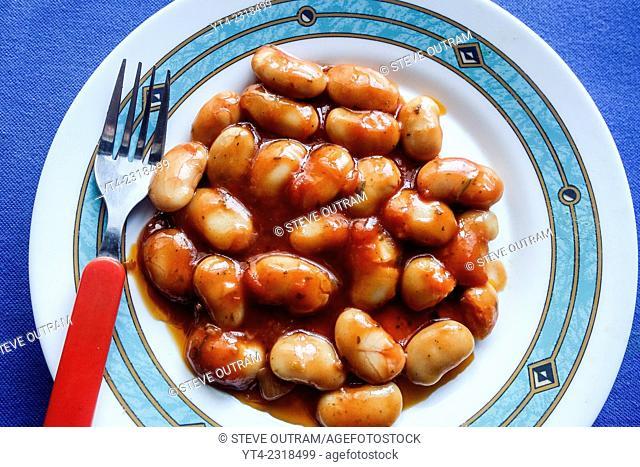 Greek cuisine. Gigandes Beans