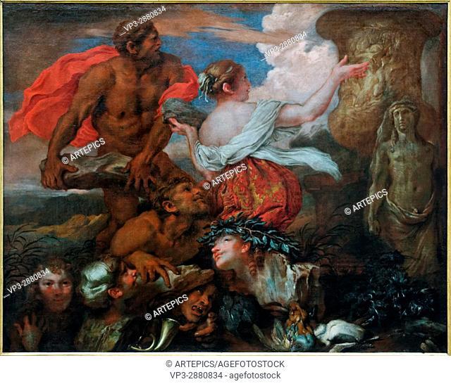 Giovanni Benedetto Castiglione - Il Grechetto - Deucalion and Pyrrha - 1655 - XVII th Century - Italian School - Gemäldegalerie - Berlin