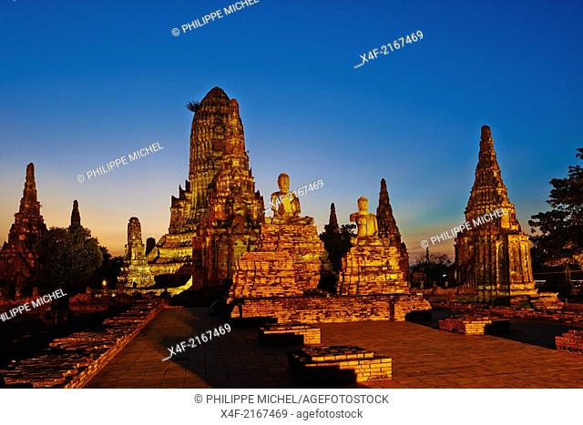 Thailand, Ayutthaya, Ayutthaya Historical Park, Wat Chai Wattanaram