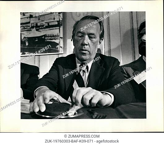 Mar. 03, 1976 - Presidential Candidates Henry M. Jackson (e) and movies K Udall (R) 'Soviet Jewels R. Prisoners breakfast - N.Y