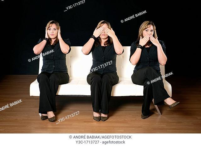 Three women - see no evil, hear no evil, speak no evil