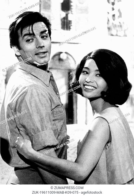 Oct. 9, 1961 - Rome, Italy - 'Sun Set which promises fine weather' that is the translation of the name of 21 year old Japanese actress AKIKO who also became...