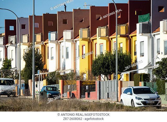 Housing, Almansa, Albacete province, Castilla-La Mancha, Spain
