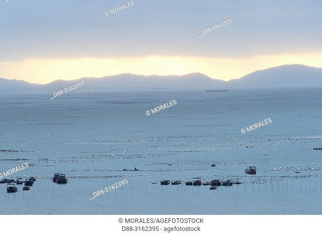 China, Fujiang Province, Xiapu County, Fishing farms, aquaculture