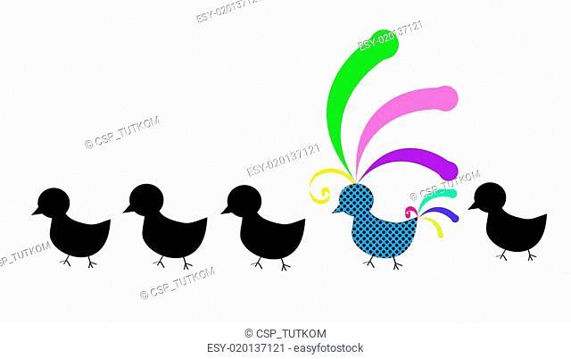 Original colorful bird