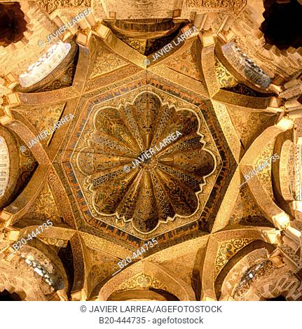 The Mihrab's dome. Great Mosque of Cordoba. Andalusia. Spain