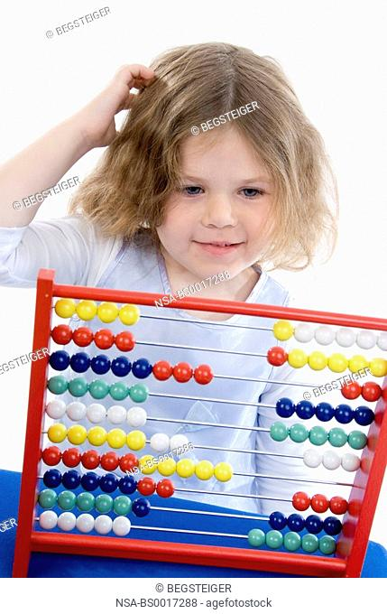 girl with abacus
