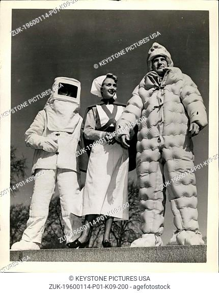 1960 - Suits to suit: Included in a recent London exhibit of the latest industrial and protective clothing were some outfits weird enough for the most...